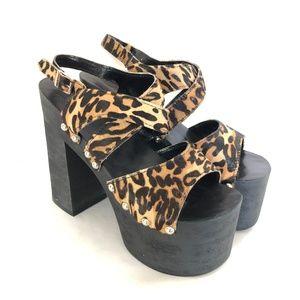 Unif Fever Womens Shoes Platform Heels Studded 10